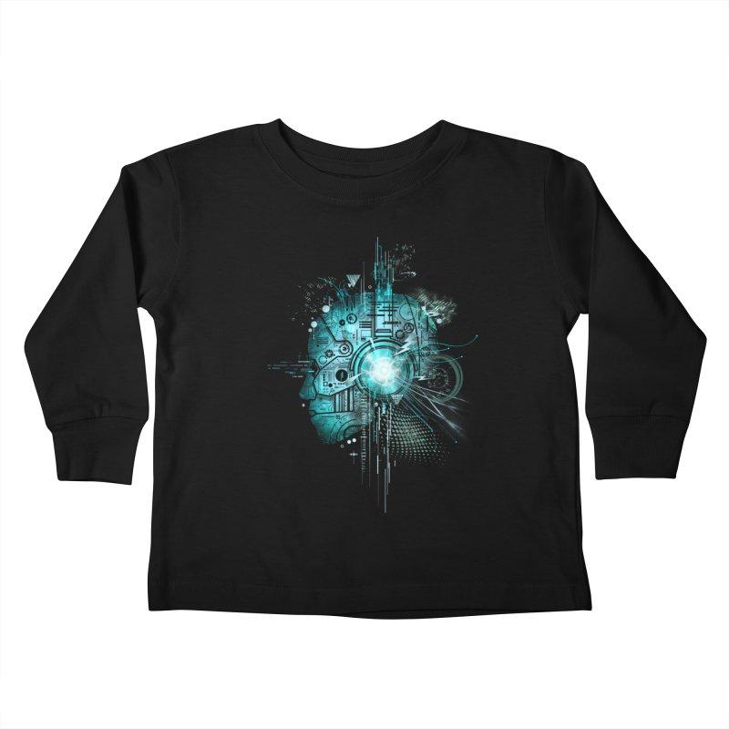 Techno Kids Toddler Longsleeve T-Shirt by silentOp's Artist Shop