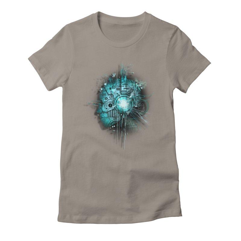 Techno Women's Fitted T-Shirt by silentOp's Artist Shop