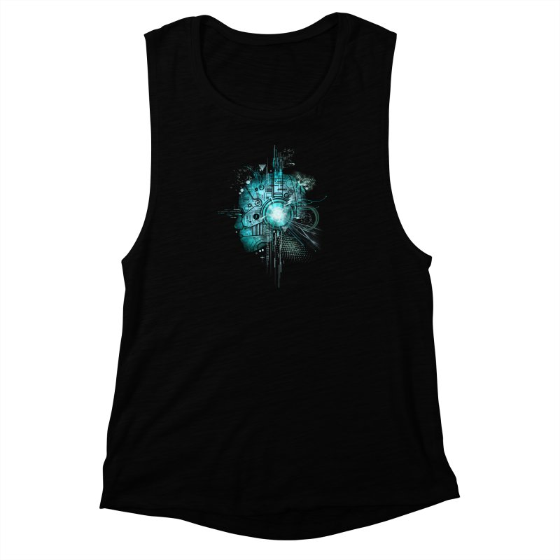 Techno Women's Muscle Tank by silentOp's Artist Shop