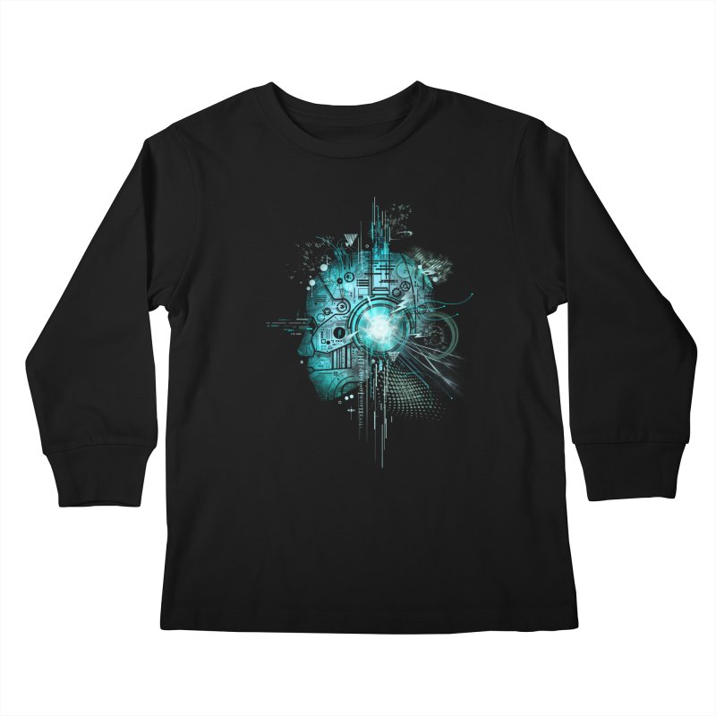 Techno Kids Longsleeve T-Shirt by silentOp's Artist Shop