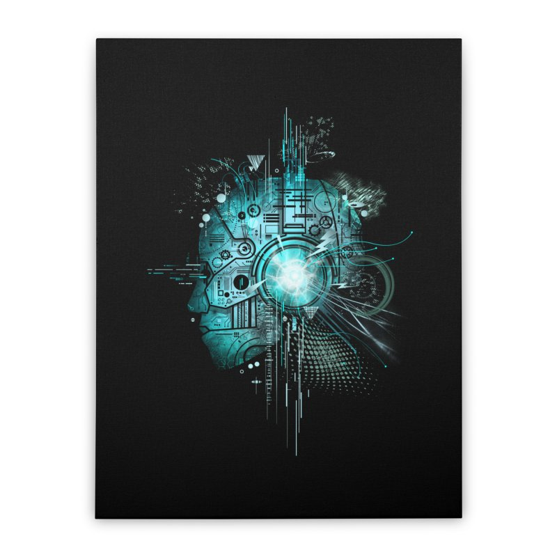 Techno Home Stretched Canvas by silentOp's Artist Shop