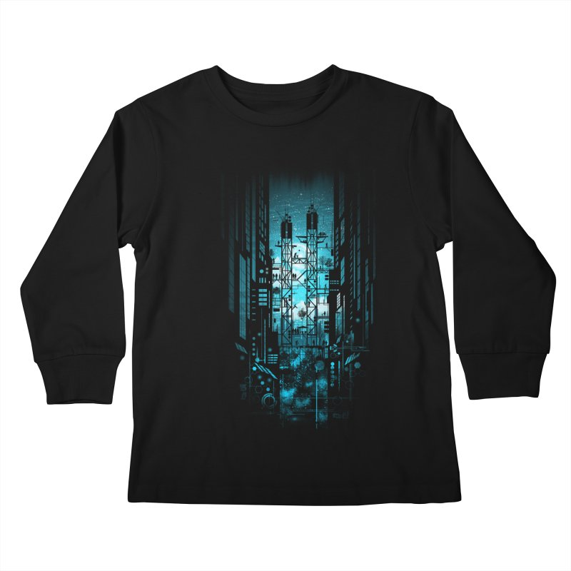 Steelscape Kids Longsleeve T-Shirt by silentOp's Artist Shop