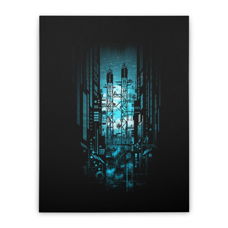 Steelscape Home Stretched Canvas by silentOp's Artist Shop