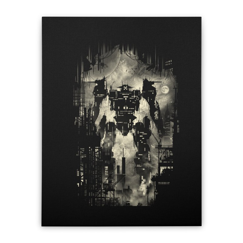 The Builder Home Stretched Canvas by silentOp's Artist Shop