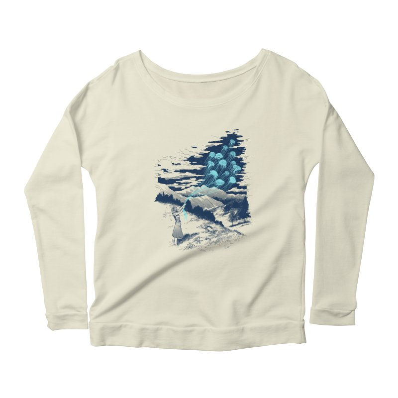Release the Kindness Women's Longsleeve Scoopneck  by silenTOP Artist Shop