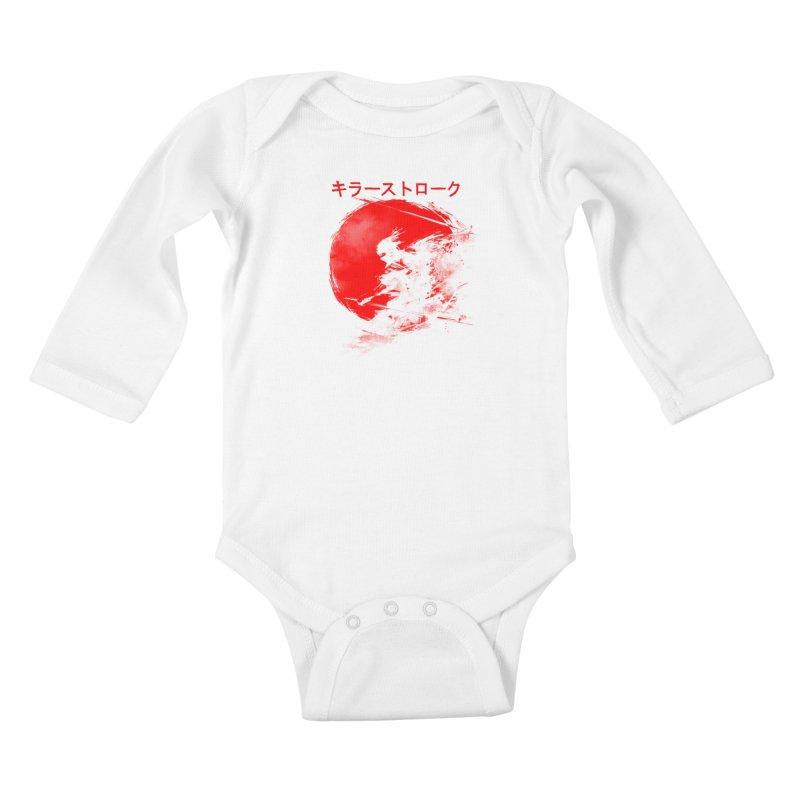 Killer Strokes Kids Baby Longsleeve Bodysuit by silentOp's Artist Shop