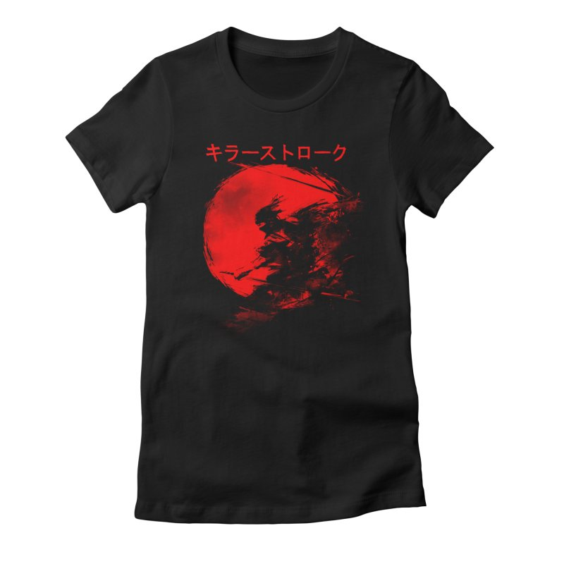 Killer Strokes Women's Fitted T-Shirt by silentOp's Artist Shop