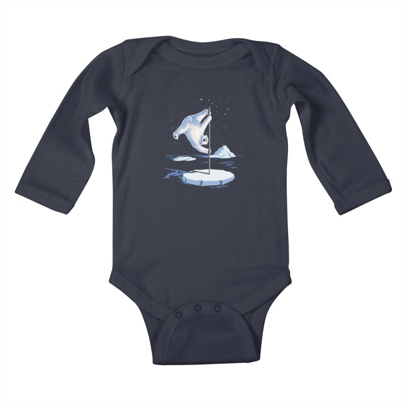 North Pole Dancer Kids Baby Longsleeve Bodysuit by silenTOP Artist Shop