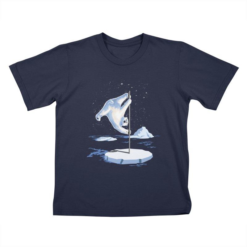 North Pole Dancer Kids T-shirt by silentOp's Artist Shop