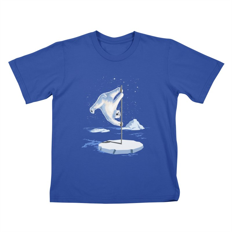 North Pole Dancer Kids T-Shirt by silenTOP Artist Shop