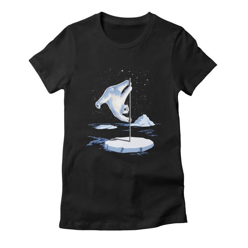 North Pole Dancer Women's Fitted T-Shirt by silentOp's Artist Shop