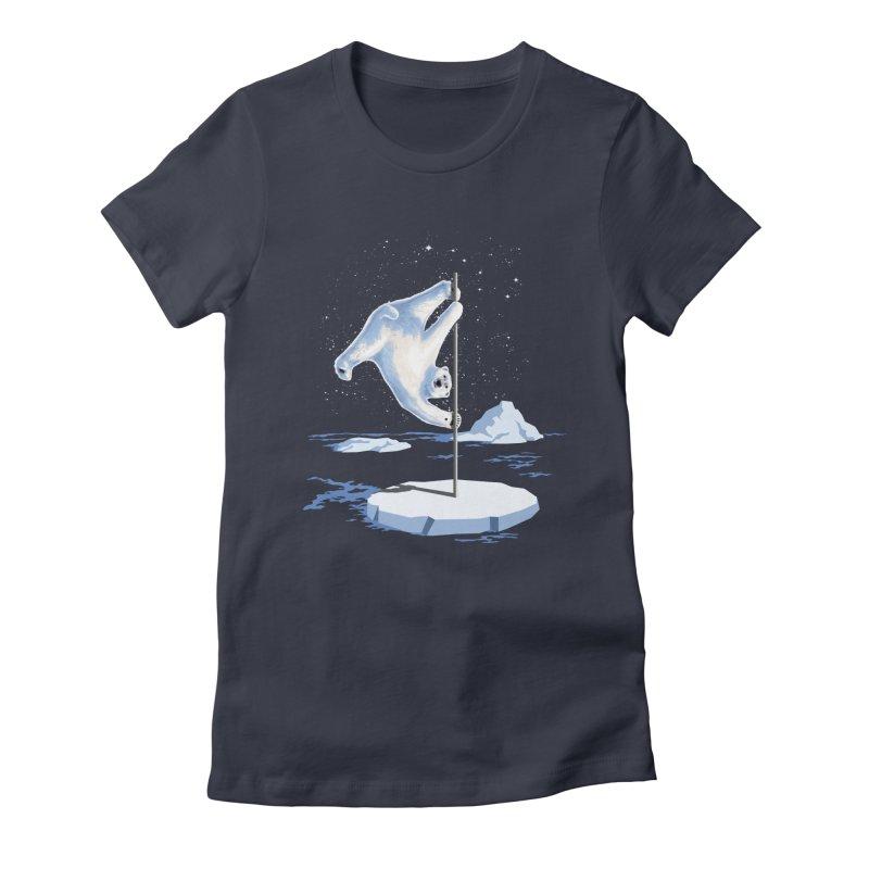 North Pole Dancer Women's Fitted T-Shirt by silenTOP Artist Shop