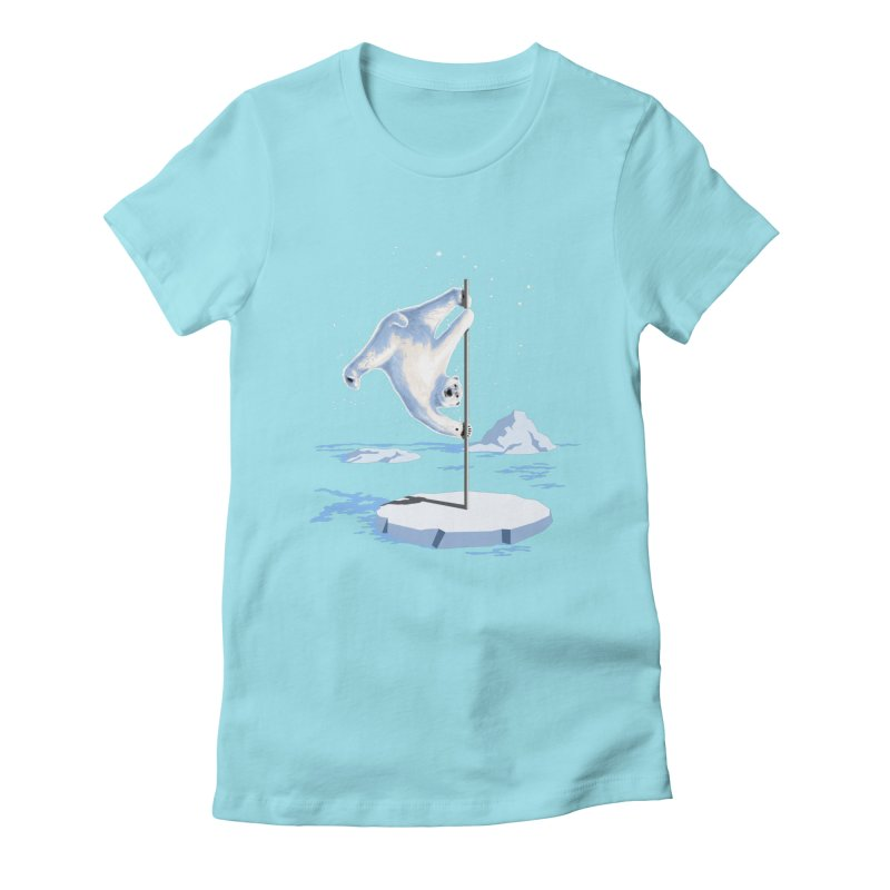 North Pole Dancer Women's Fitted T-Shirt by silentOp's Artist Shop