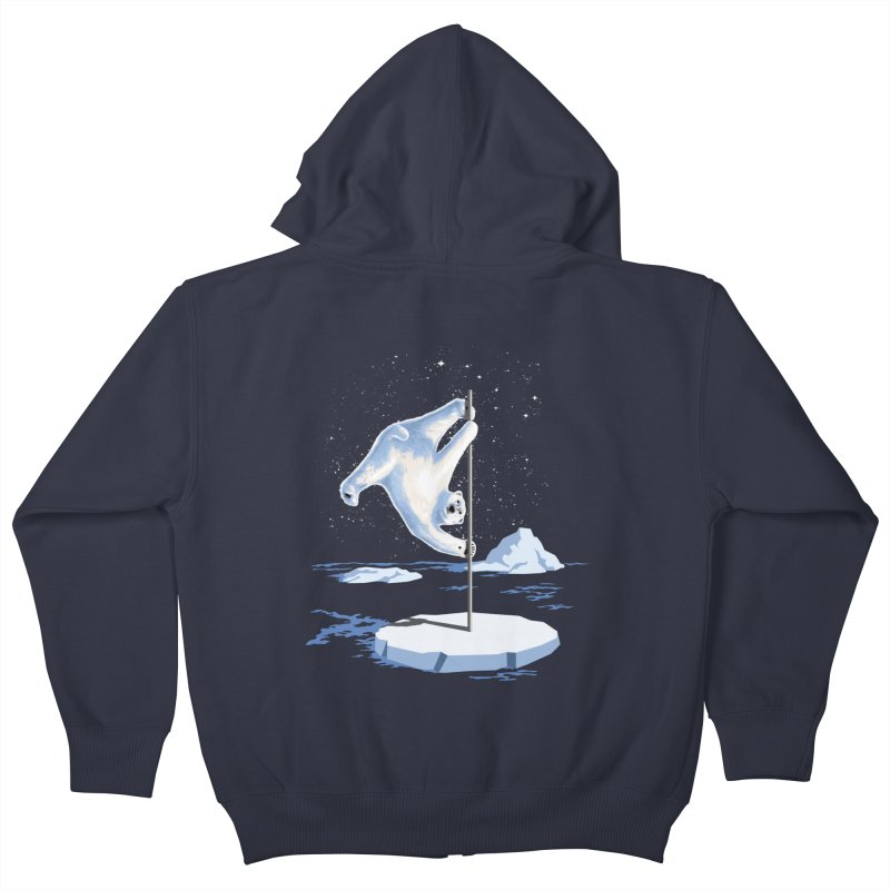 North Pole Dancer Kids Zip-Up Hoody by silentOp's Artist Shop