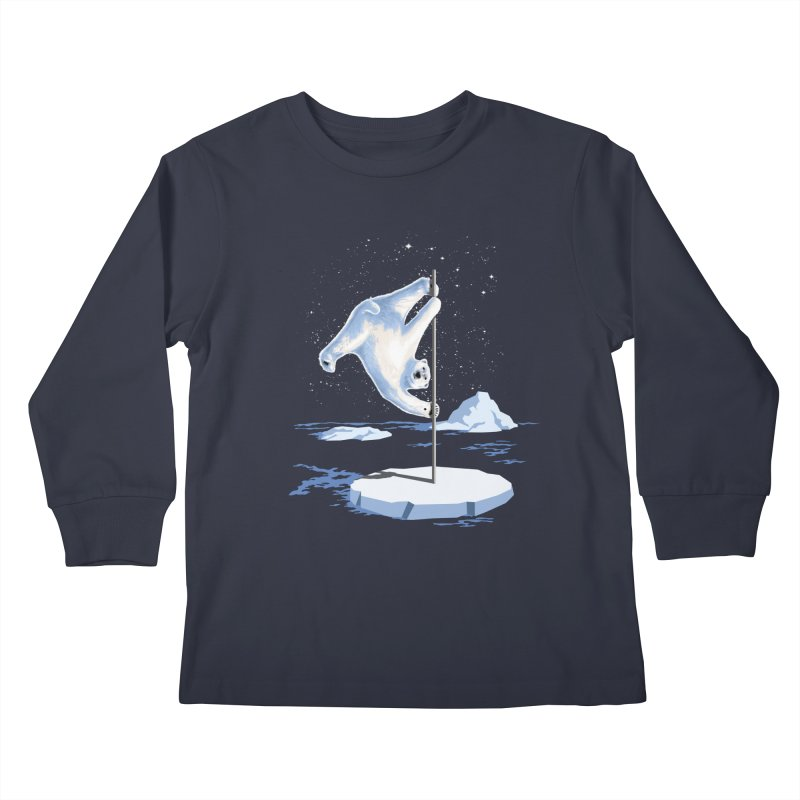 North Pole Dancer Kids Longsleeve T-Shirt by silentOp's Artist Shop