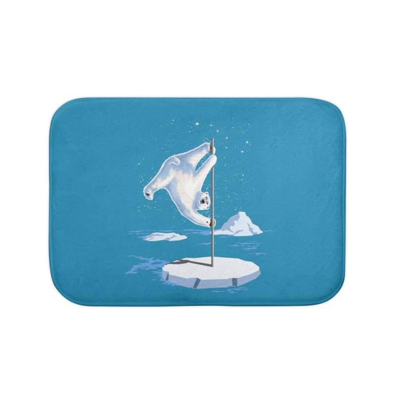 North Pole Dancer Home Bath Mat by silenTOP Artist Shop