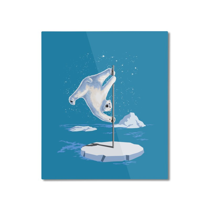 North Pole Dancer Home Mounted Aluminum Print by silenTOP Artist Shop