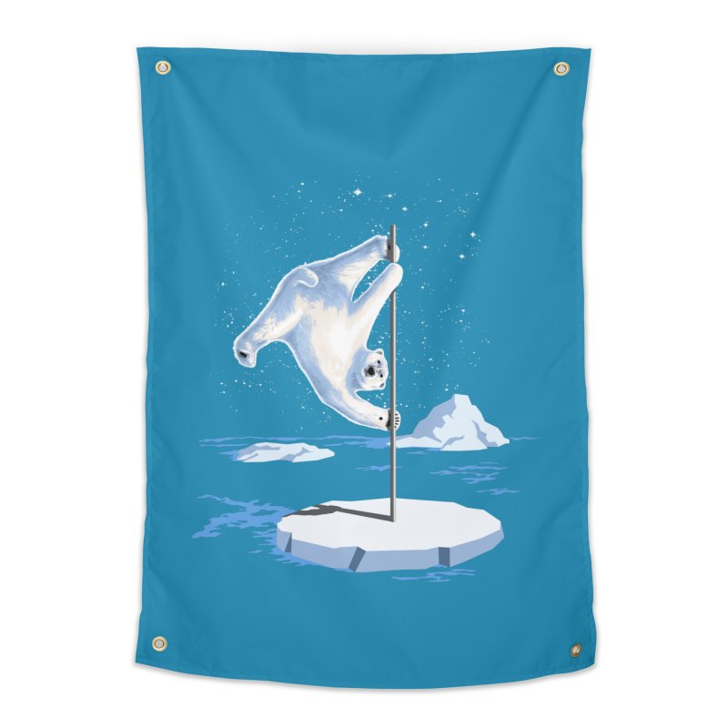 North Pole Dancer Home Tapestry by silenTOP Artist Shop