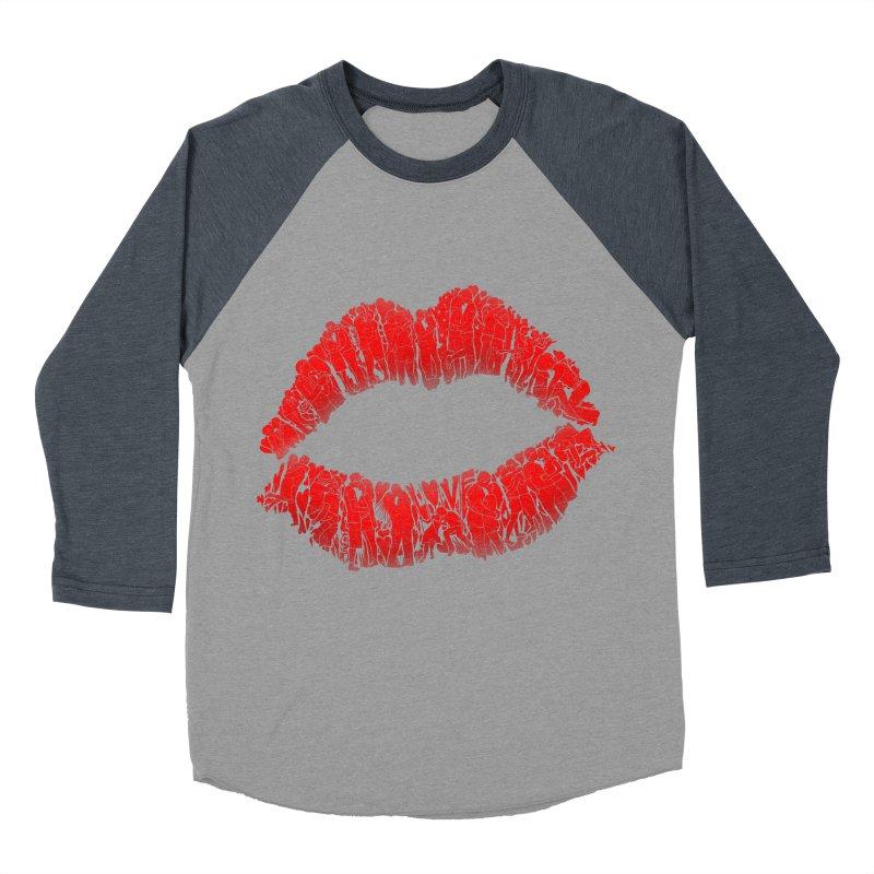 A Big Kiss full of Love Women's Baseball Triblend T-Shirt by silenTOP Artist Shop