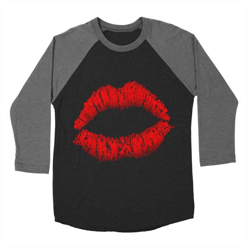 A Big Kiss full of Love Men's Baseball Triblend T-Shirt by silenTOP Artist Shop