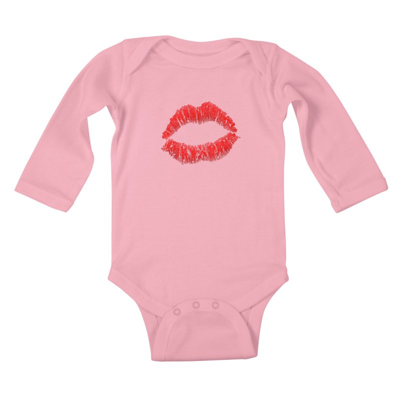 A Big Kiss full of Love Kids Baby Longsleeve Bodysuit by silentOp's Artist Shop