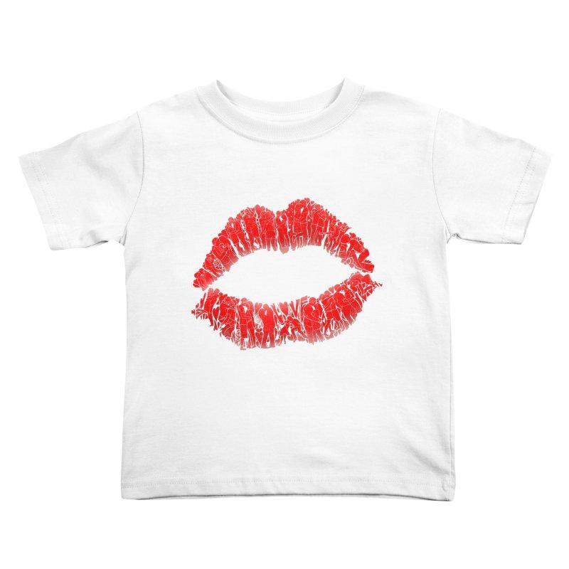 A Big Kiss full of Love Kids Toddler T-Shirt by silentOp's Artist Shop