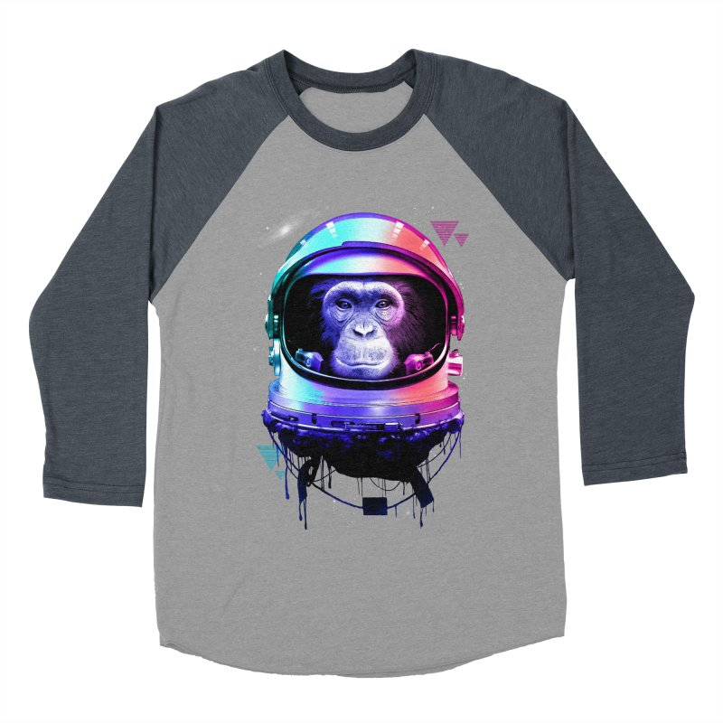 Apestronaut Women's Baseball Triblend T-Shirt by silentOp's Artist Shop