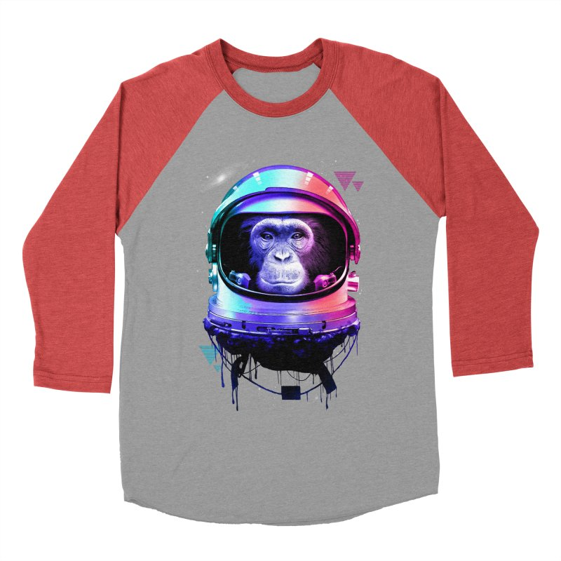 Apestronaut Men's Baseball Triblend T-Shirt by silentOp's Artist Shop