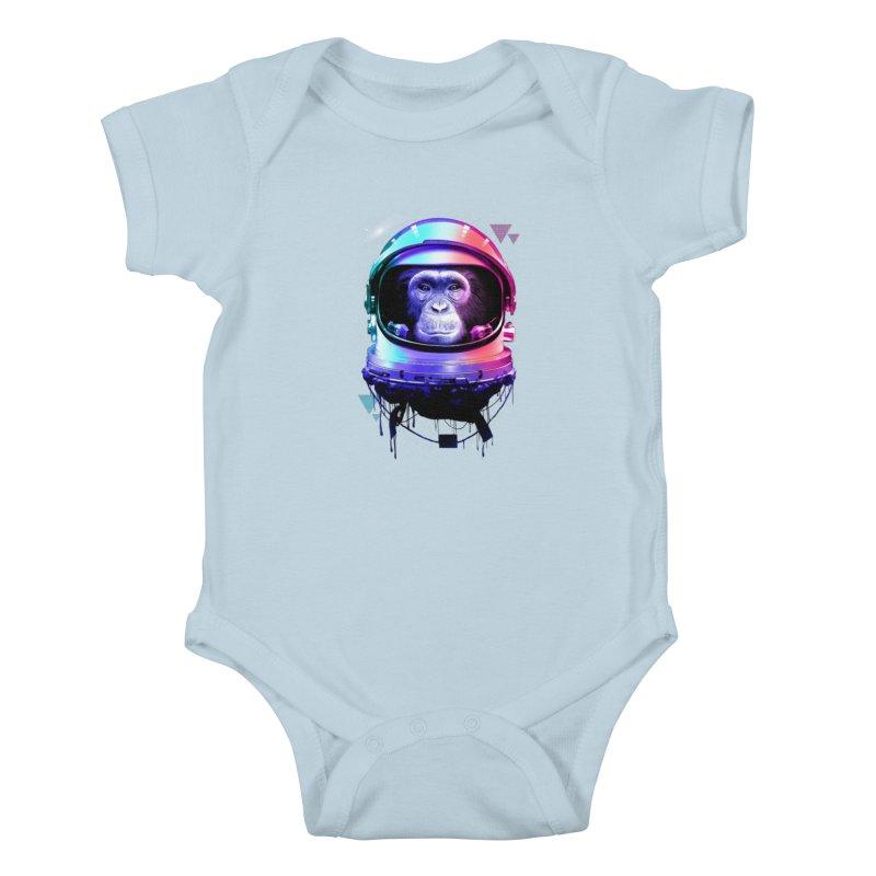 Apestronaut Kids Baby Bodysuit by silentOp's Artist Shop