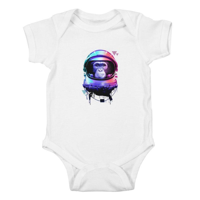 Apestronaut Kids Baby Bodysuit by silenTOP Artist Shop