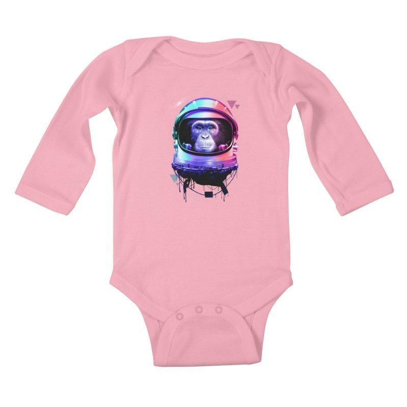 Apestronaut Kids Baby Longsleeve Bodysuit by silentOp's Artist Shop