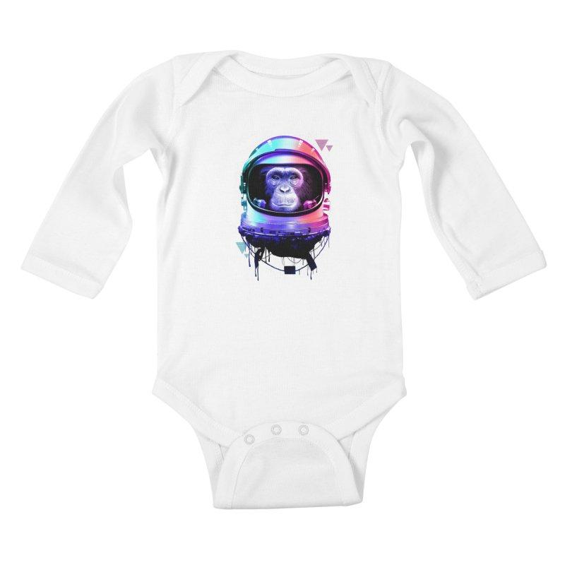 Apestronaut Kids Baby Longsleeve Bodysuit by silenTOP Artist Shop