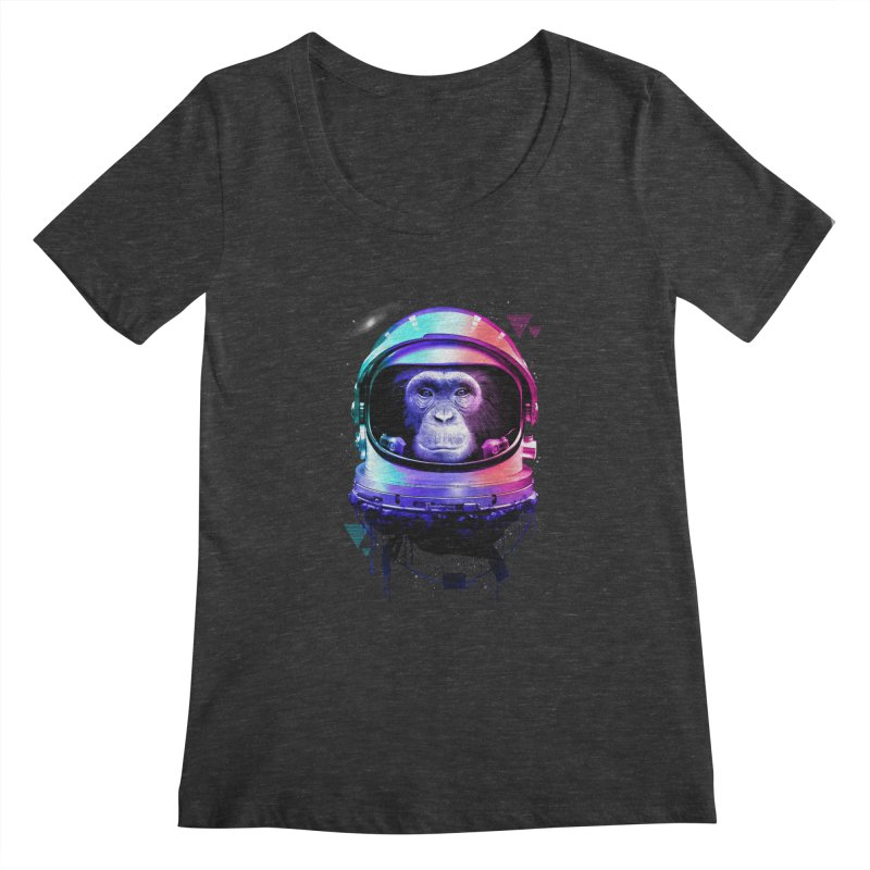 Apestronaut Women's Scoopneck by silenTOP Artist Shop