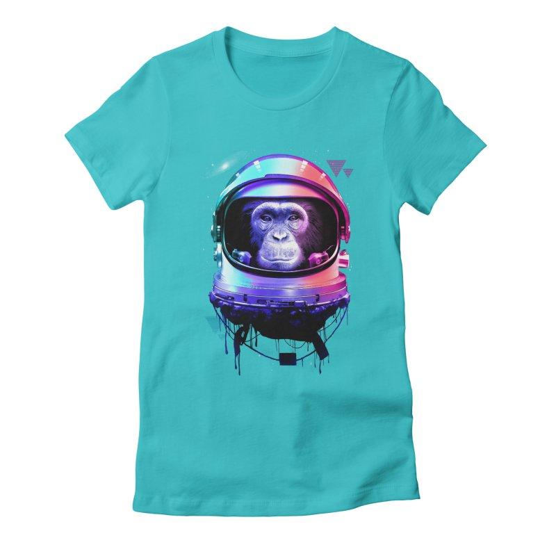 Apestronaut Women's Fitted T-Shirt by silentOp's Artist Shop