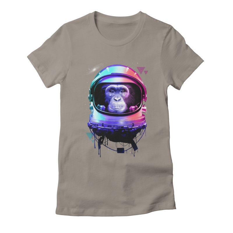 Apestronaut Women's Fitted T-Shirt by silenTOP Artist Shop