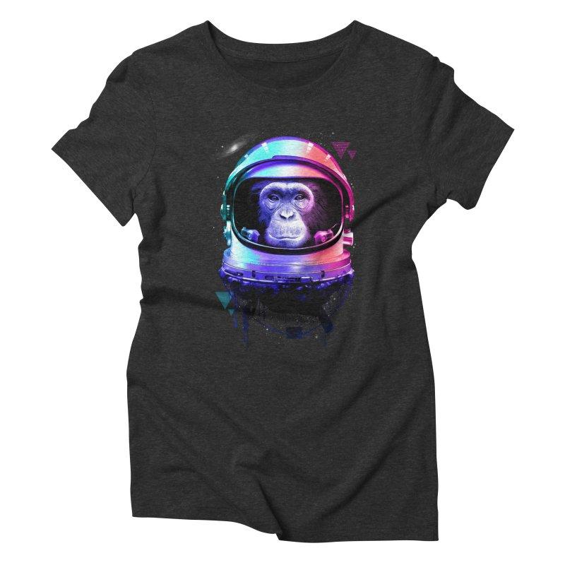 Apestronaut Women's Triblend T-shirt by silentOp's Artist Shop
