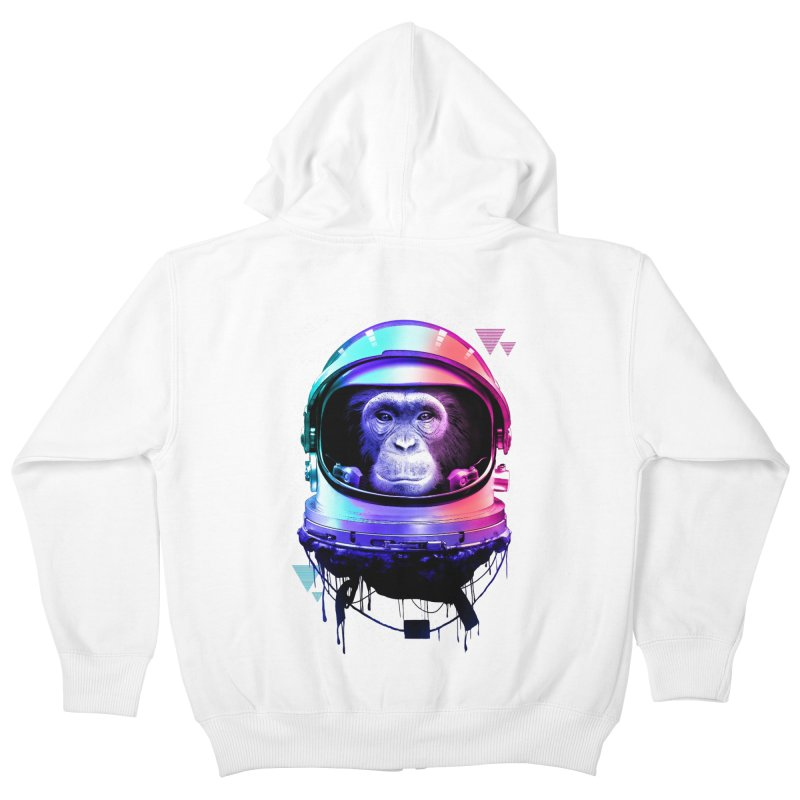 Apestronaut Kids Zip-Up Hoody by silentOp's Artist Shop