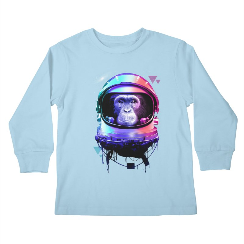 Apestronaut Kids Longsleeve T-Shirt by silentOp's Artist Shop