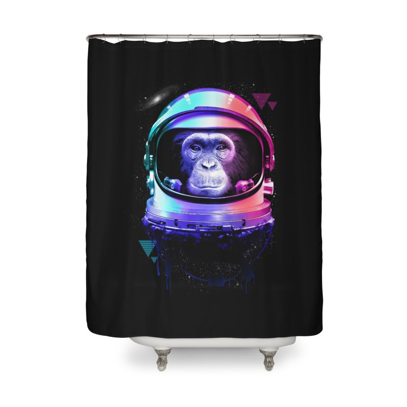 Apestronaut Home Shower Curtain by silenTOP Artist Shop