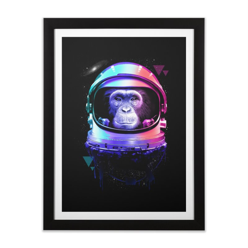 Apestronaut Home Framed Fine Art Print by silenTOP Artist Shop