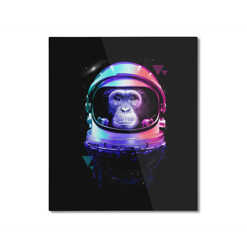 Apestronaut Home Mounted Aluminum Print by silenTOP Artist Shop