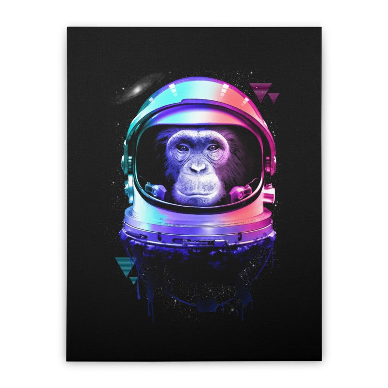 Apestronaut Home Stretched Canvas by silentOp's Artist Shop