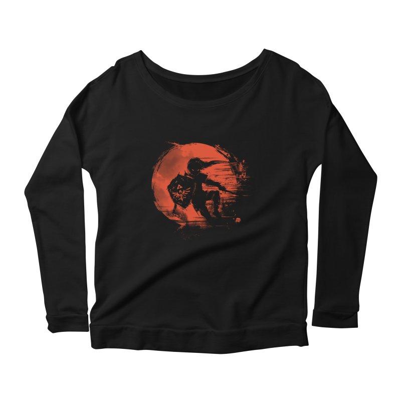 Strokes of Legend Women's Scoop Neck Longsleeve T-Shirt by silenTOP Artist Shop