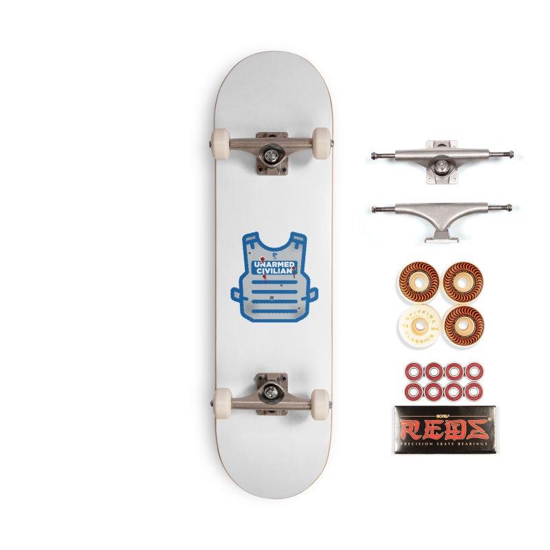 BLKPWR   Unarmed Civilian - Flack Jacket Accessories Skateboard by Silli Philli Produktionz   Custom Prints