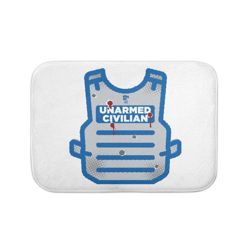 BLKPWR | Unarmed Civilian - Flack Jacket Home Bath Mat by Silli Philli Produktionz | Custom Prints
