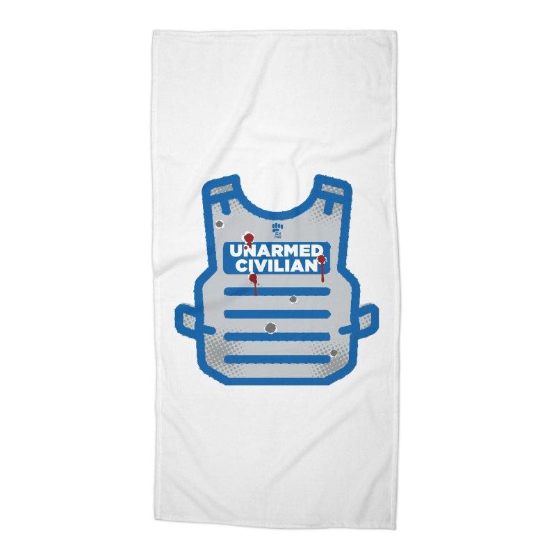 BLKPWR | Unarmed Civilian - Flack Jacket Accessories Beach Towel by Silli Philli Produktionz | Custom Prints