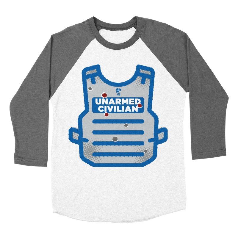 BLKPWR | Unarmed Civilian - Flack Jacket Men's Baseball Triblend Longsleeve T-Shirt by Silli Philli Produktionz