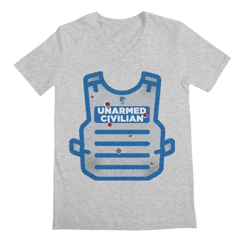 BLKPWR | Unarmed Civilian - Flack Jacket Men's Regular V-Neck by Silli Philli Produktionz