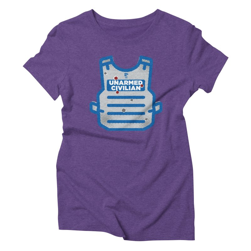 BLKPWR   Unarmed Civilian - Flack Jacket Women's Triblend T-Shirt by Silli Philli Produktionz
