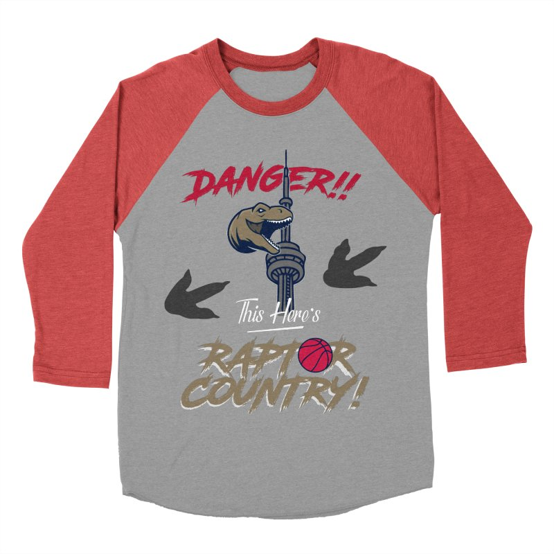 This Here's [Toronto] Raptor Country Women's Baseball Triblend Longsleeve T-Shirt by Silli Philli Produktionz